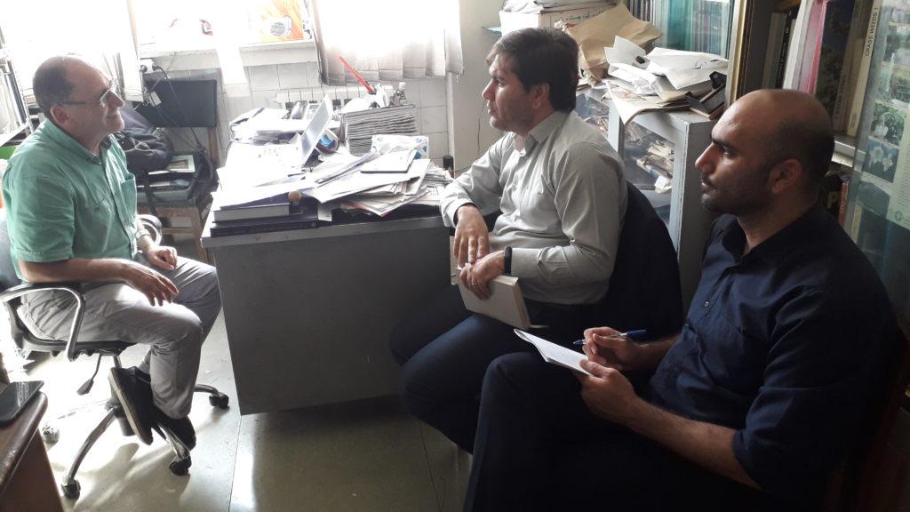 جلسه بررسی مسائل کلان کشور از دیدگاه دکتر آخانی استاد گروه محیط زیست دانشگاه تهران