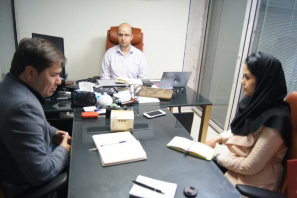 جلسه با مشاور پروژه در زمینه امنیت دیجیتال