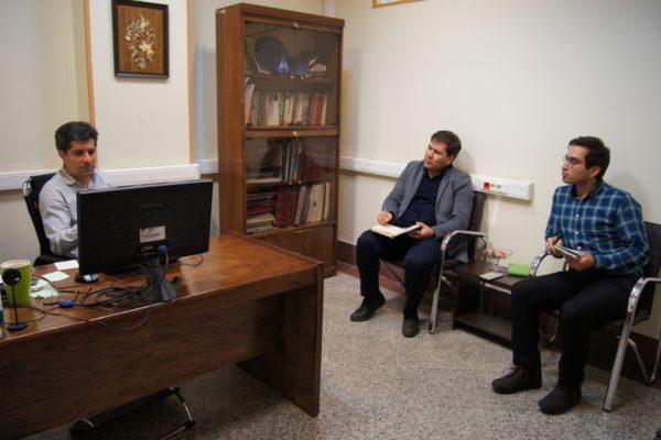 جلسه با مشاور پروژه در حوزه زیرساخت، جناب آقای دکتر شاه منصوری