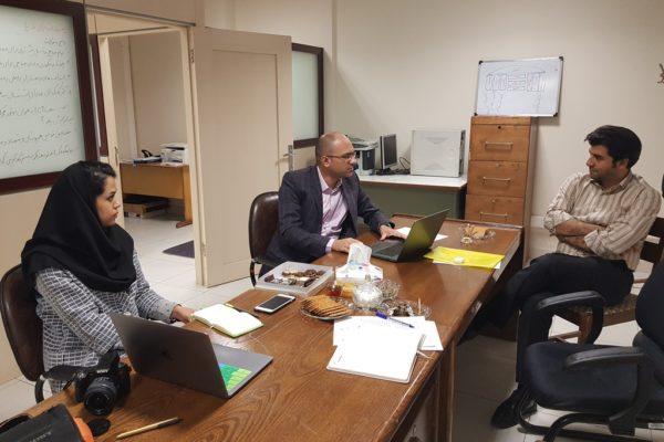 جلسه با مشاور پروژه در زمینه هویت دیجیتال